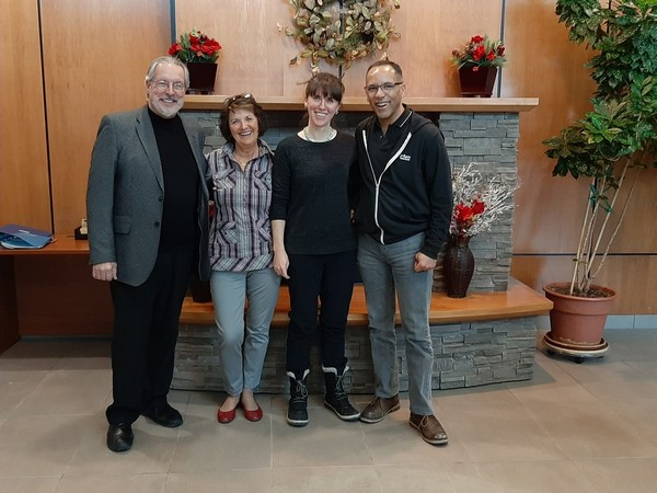 Les Janzen, CEO of Concordia Wellness Projects, Cynthia & Andrea Grant, Directors of River East Physiotherapy, and Tim Hague, Founder of U-Turn Parkinson's
